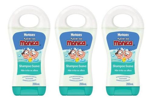 Turma Da Mônica Shampoo Infantil Suave 200ml (kit C/03)