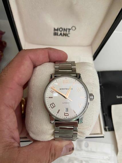 Lindo Relógio Montblanc Time Walker Original Modelo Recente