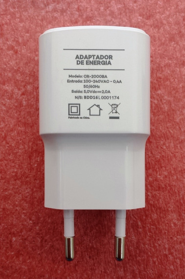 Carregador Adaptador Quantum Fly Muv You 5.0v 2.0a Original