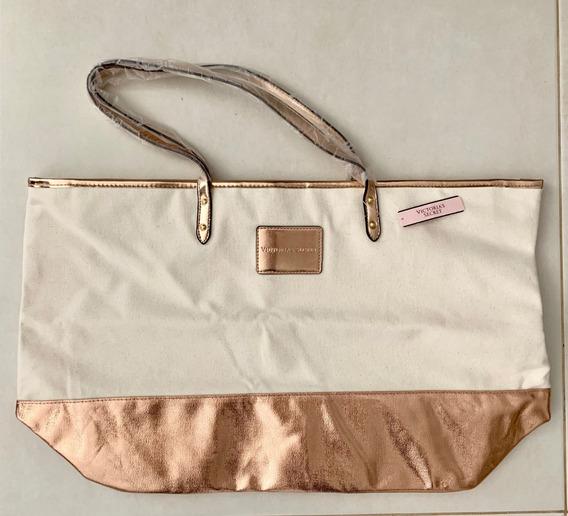 Bolsa Importada Victoria`s Secret Feminina Creme Ro Original