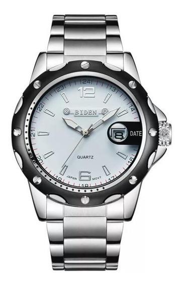 Relógio Masculino Original Aço Inox Com Caixinha Estiloso