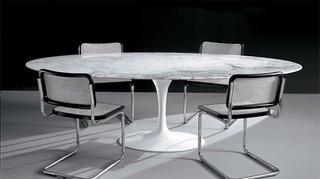Tulip Saarinen 200 X 100 Cm Base Aluminio Y Carrara Miagala