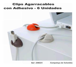 Zdwc01 Clips De Silicona Para Cables Paquete X6 Computoys