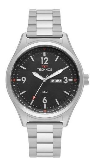 Relógio Masculino Prata Technos - Ref. 2105ba/1p