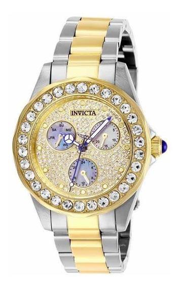 Relógio Invicta Em Cristais Original 18k 28459 -12xsemjuros