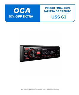 Radio Auto Pioneer Mvh-85ub Usb Mp3 Am Fm
