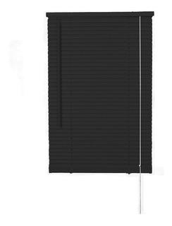 Persiana Pvc 25mm 110x150 Cm. Negro