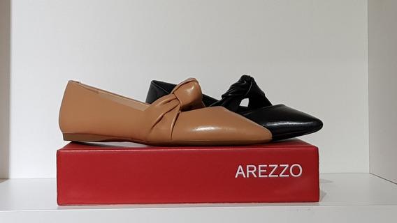 Sapato Salto Rasteiro Couros/preto-arezzo A1000204730001u