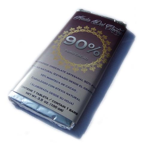 3 Chocolates (300gr) 90% Cacao Vegan Keto Cetogenico Stevia