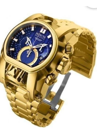 Relógio Invictaa Reserve Bolt Zeus Magnum 25209 Dourado / Az