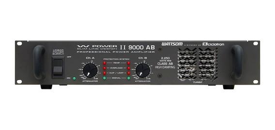 Amplificador 2250w Rms 4 Ohms -w Power Ii 9000 Ab Ciclotron