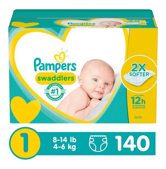 Pañales Pampers Swaddlers Etapa 1, 140