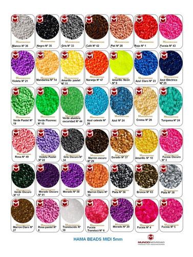 Tubitos Hama Beads Midi 5mm Perler Perlas Magicas Pepitas