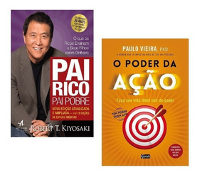 Kit Livros - Pai Rico Pai Pobre + O Poder Da Ação #