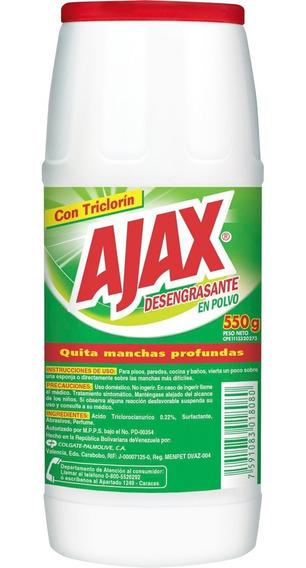 Limpiador Desengrasante Polvo Ajax 550 Gr 3 Und