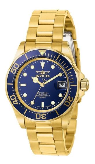 Relógio Invicta Dourado Pro Diver 9312 - Swiss Movement 200m