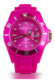 Reloj Rubberchic Basic Fucsia