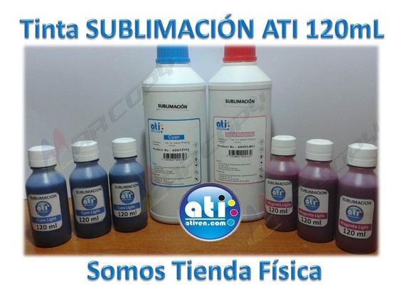 Tinta Sublimación Ati Original Bk, Mg, Yw, Cy. Light 120ml