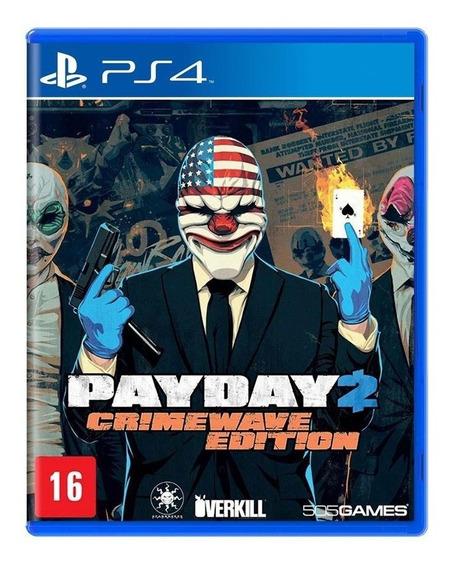 Payday 2 Crimewave Edition Ps4 Mídia Física Novo Lacrado