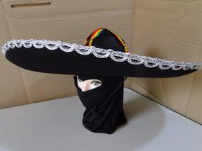 Kit Chapeu Mexicano Bordado Tequilero Mascarado + Touca
