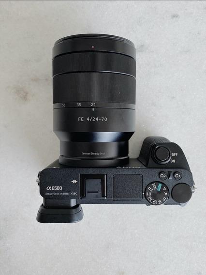 Câmera Sony A6500 + Lente Zeiss Fe 24-70 F/4 Za Oss