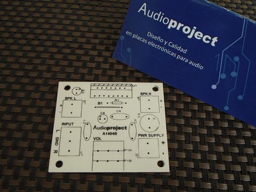 C Impreso Y Componentes Amplificador 20+20 W - Audioproject