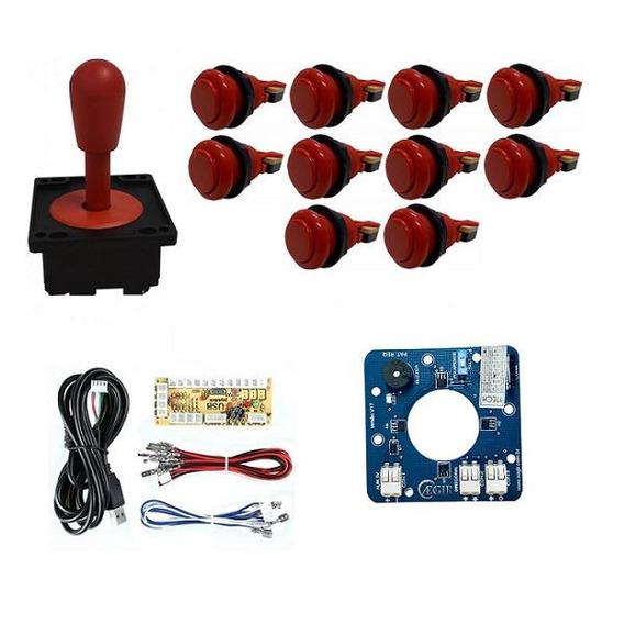Comando Aegir Magnético 10 Botões Nylon Zero Delay Vermelho