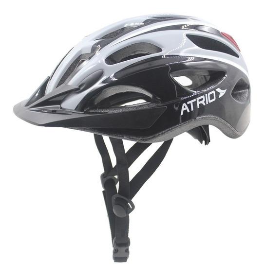 Capacete M Branco E Preto Led 2 Para Ciclismo Bi112 Átrio