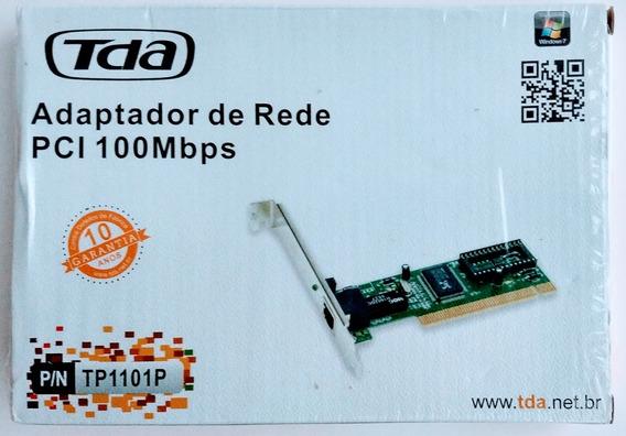 Adaptador / Placa De Rede Pci 100mbps - Marca Tda