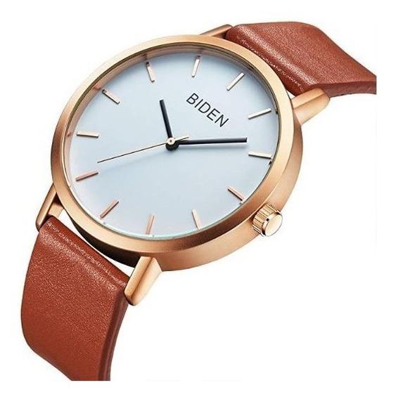 Elegante Reloj Analogo Biden Impermeable Waterproof
