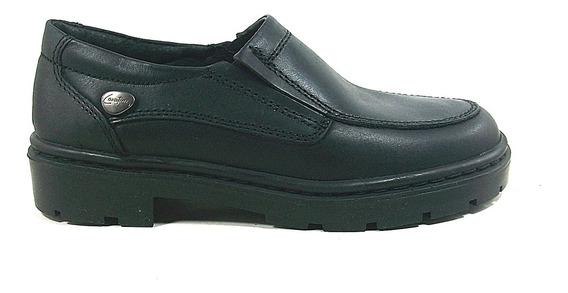 Zapatos Mocasín Abotinado Con Elástico, Tipo Colegial