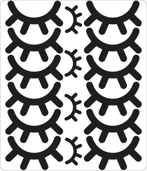 Adesivo Cílios Unicórnio 5cm Com 1 Cartela Total 6 Pares