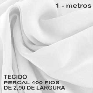 Tecido Percal 400 Fios Com 2,90 Largura - 1 Metro Branco