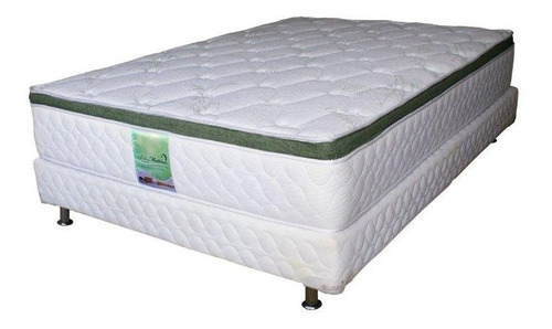 Colchon Con Box De Memory Foam Y Resortes Matrimonial Bamboo