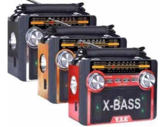 Rádio Fm Am Sd Pena Usb Vx-034 X-bass