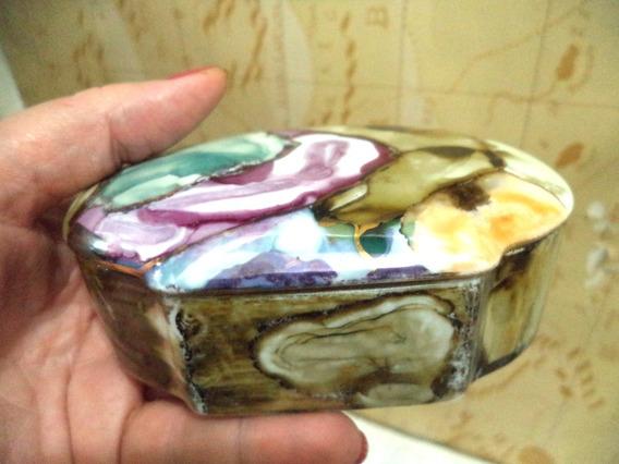 Porta Joias Porcelana Antiga Lindo Raro