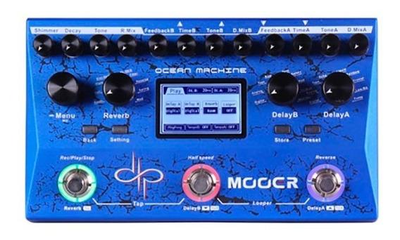 Pedal Pedaleira Mooer Delay E Looper Ocean Machine Tdl3