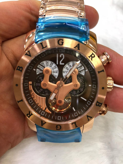 Relógio Masculino Bv Hybrid Gold Rose Automatico Em Aço Rosê