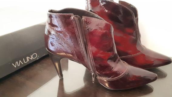 Zapato Botineta Via Uno Talle 37 Excelente Estado