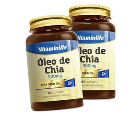 2x Ácido Graxo Oleo De Chia 500mg - 60 Cáps - Vitaminlife