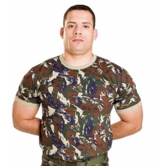 Camiseta Camuflada Aeronáutica Mundo Do Militar