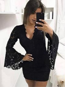 515da528a Vestido De Justo Manga Flare - Calçados, Roupas e Bolsas no Mercado ...