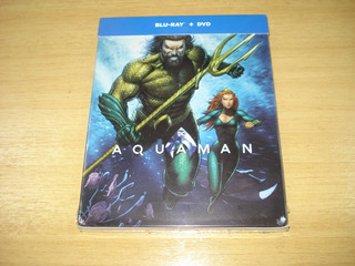 Steelbook Bluray+dvd Aquaman / Aquaman (nuevo Y Sellado)