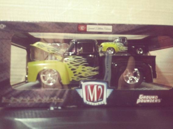 Camionetas 1956 Ford-100 Nuevo M2 Escala 1/64 Y 1/24