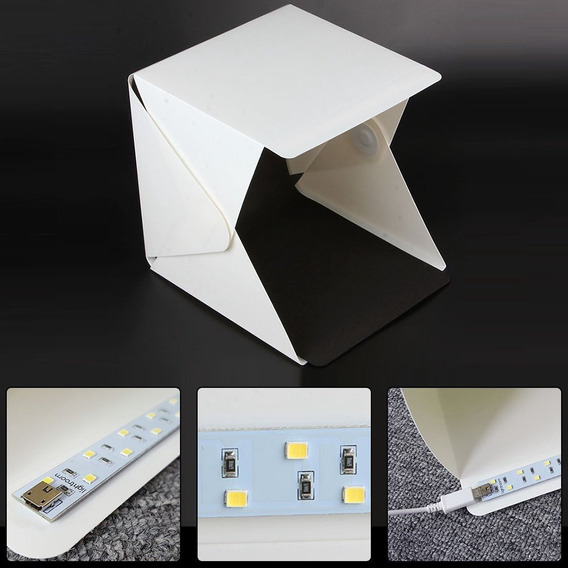 Mini Estúdio Fotográfico Portátil - 2 Estúdios
