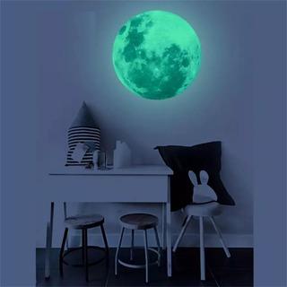Luna 20cm Fluorescente, Vinil Brilla En La Oscuridad