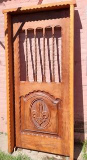 Espectacular Puerta De Frente De Algsrrobo Macizo