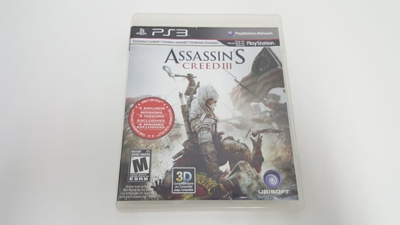 Jogo Assassins Creed 3 - Ps3 - Original - Mídia Física