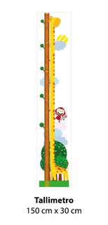 Tallímetro Safari Decorativo Con Adhesivo 150 Cm Contact