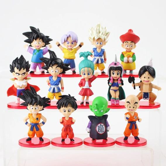 Kit 13 Bonecos Do Naruto Figuras De Ação Pvc